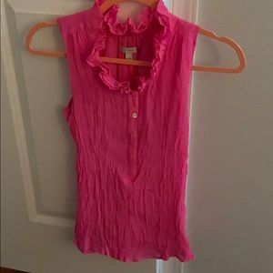 J Crew Hot Pink Sleeveless Blouse Size 0